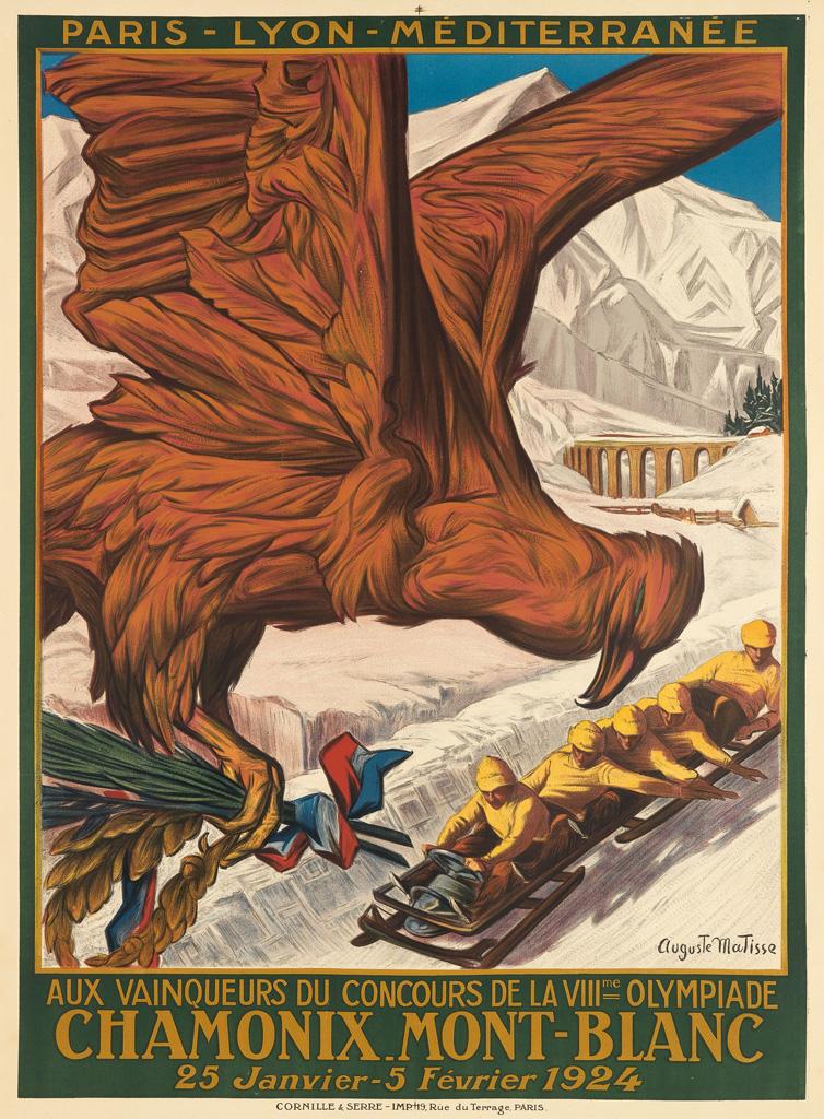 AUGUSTE-MATISSE-(1866-1931)-CHAMONIX-MONT---BLANC--VIIIME-OL