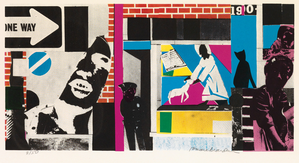 ROMARE BEARDEN (1911 - 1988) Home Boy.