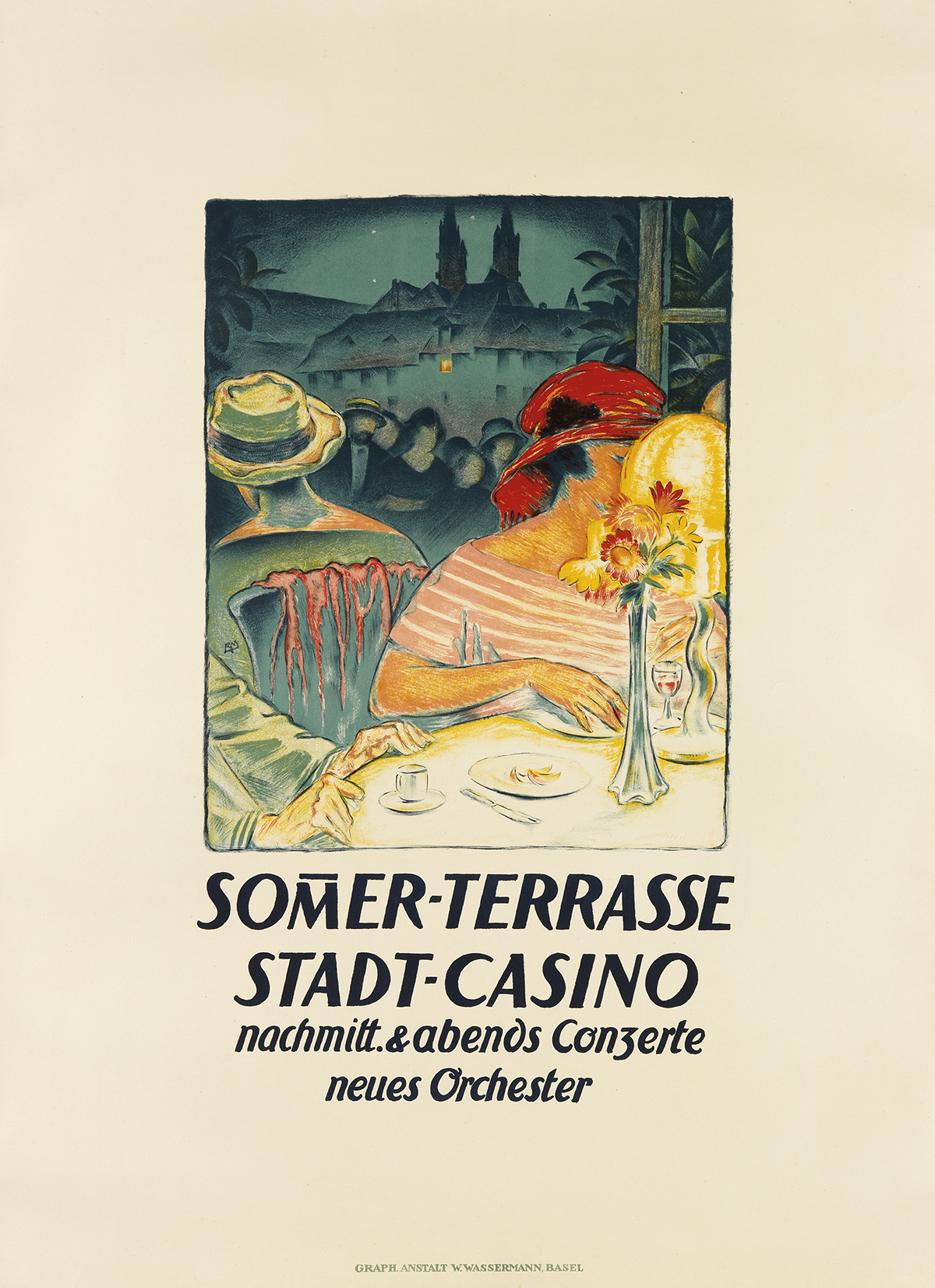 BURKHARD-MANGOLD-(1873-1950)-SOMER---TERRASSE-STADT---CASINO