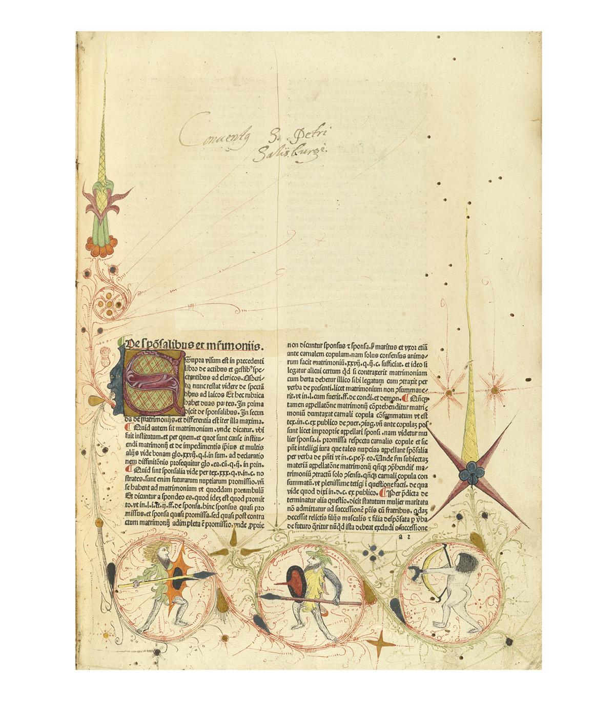 INCUNABULA  PANORMITANUS DE TUDESCHIS, NICOLAUS. Lectura super V libris Decretalium.  Part 6 (of 6), containing books 4 and 5.  1480-81