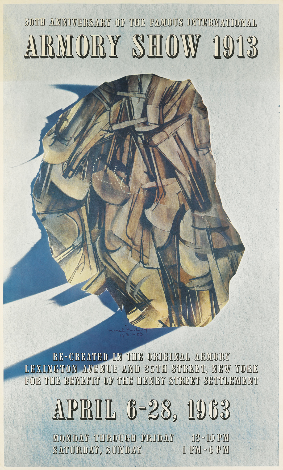 MARCEL DUCHAMP (1887-1968). 50TH ANNIVERSARY OF THE FAMOUS INTERNATIONAL ARMORY SHOW 1913. 1963. 44x26 inches, 112x67 cm.