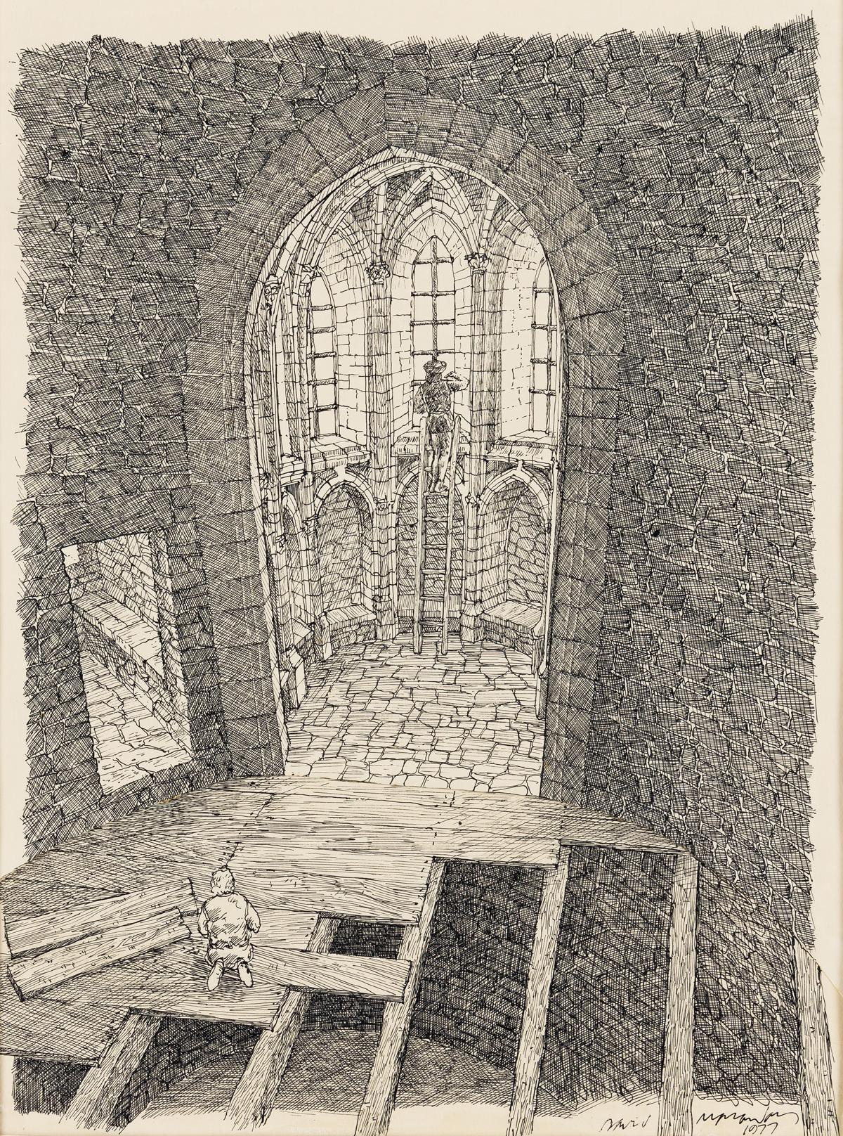 DAVID MACAULAY (1946- ) Chapel Tower. [ARCHITECTURE / DESIGN / CASTLES / CHILDRENS]