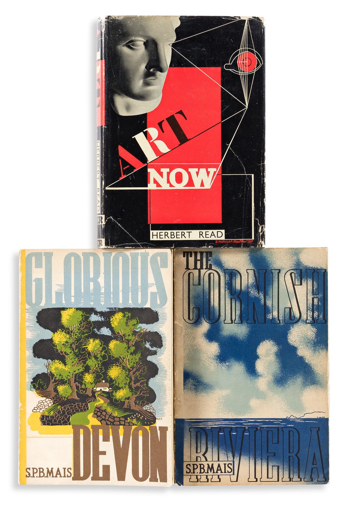 EDWARD MCKNIGHT KAUFFER (1890-1954).  [ART DECO DUST JACKETS & DESIGN]. Group of 7 books. 1920s-30s. Sizes vary.