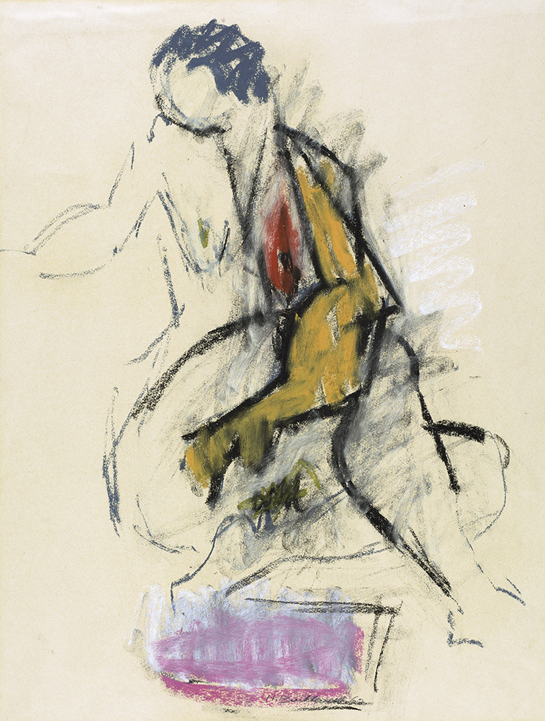 HANS BURKHARDT Seated Nude.
