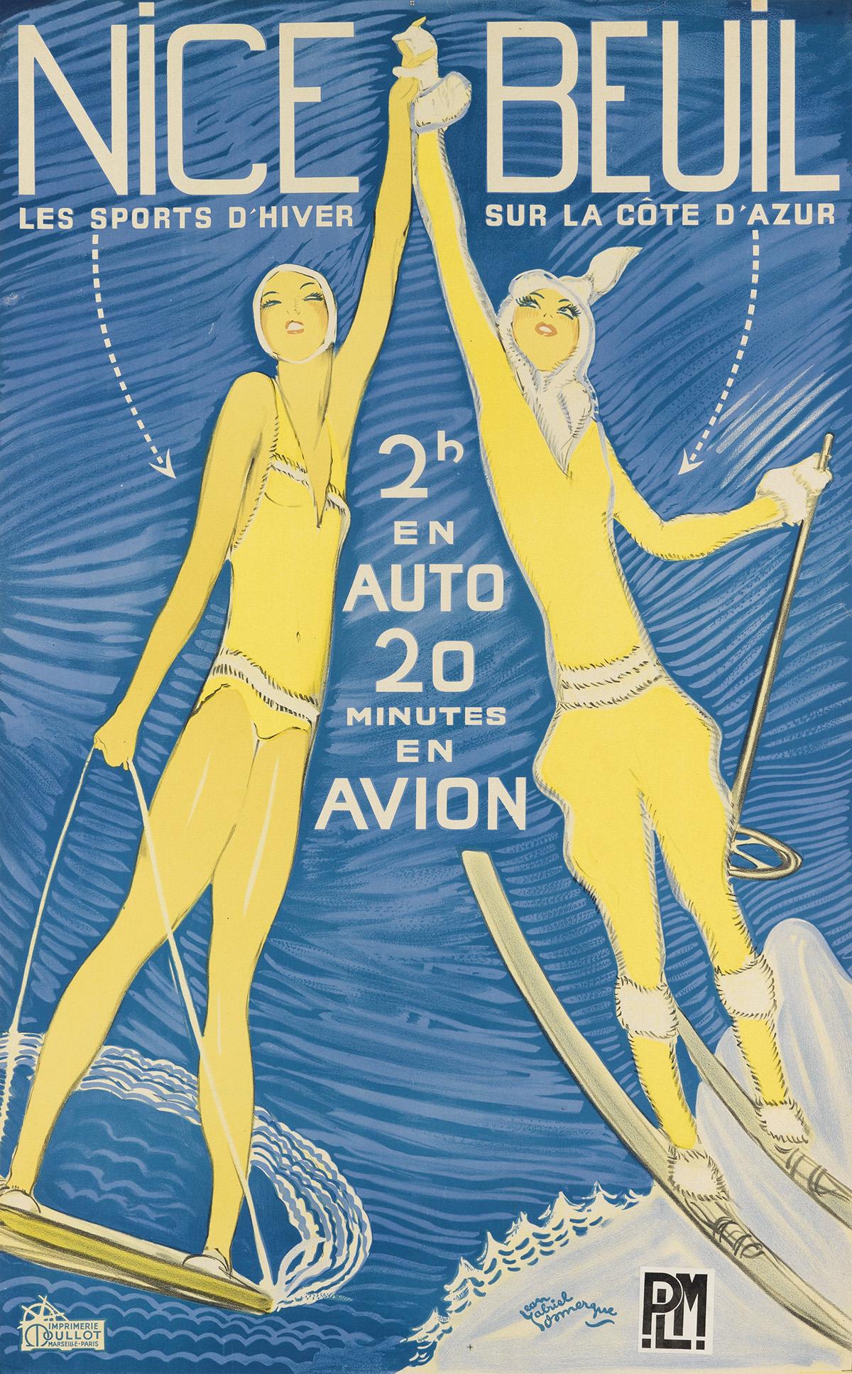 JEAN-GABRIEL-DOMERGUE-(1889-1962)-NICE-BEUIL-1935-38x24-inch