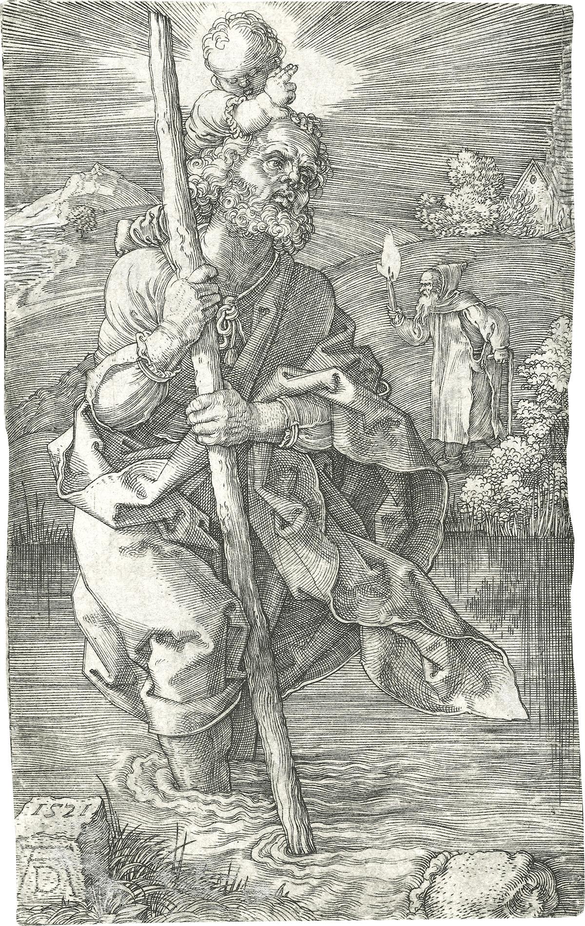 ALBRECHT-DÜRER-St-Christopher-facing-right