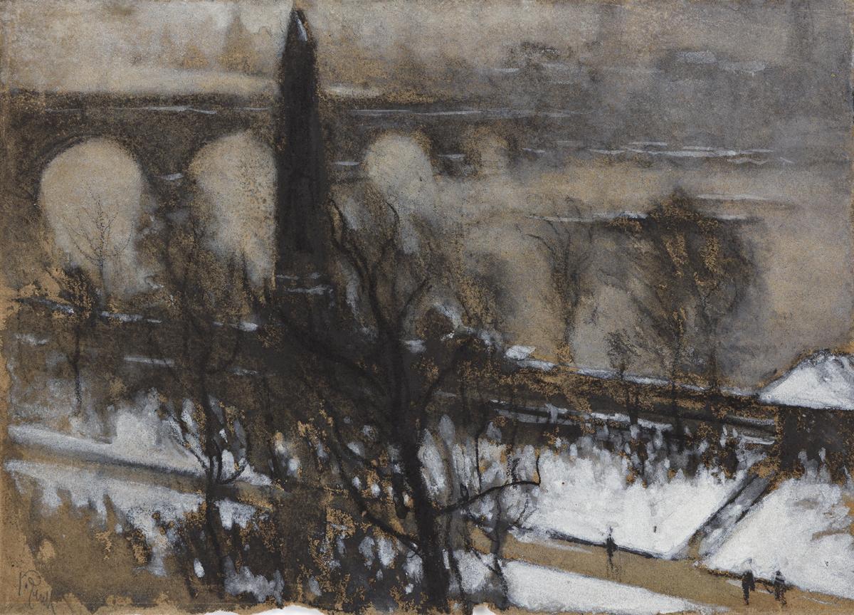 JOSEPH PENNELL Obelisque--Snow, London.