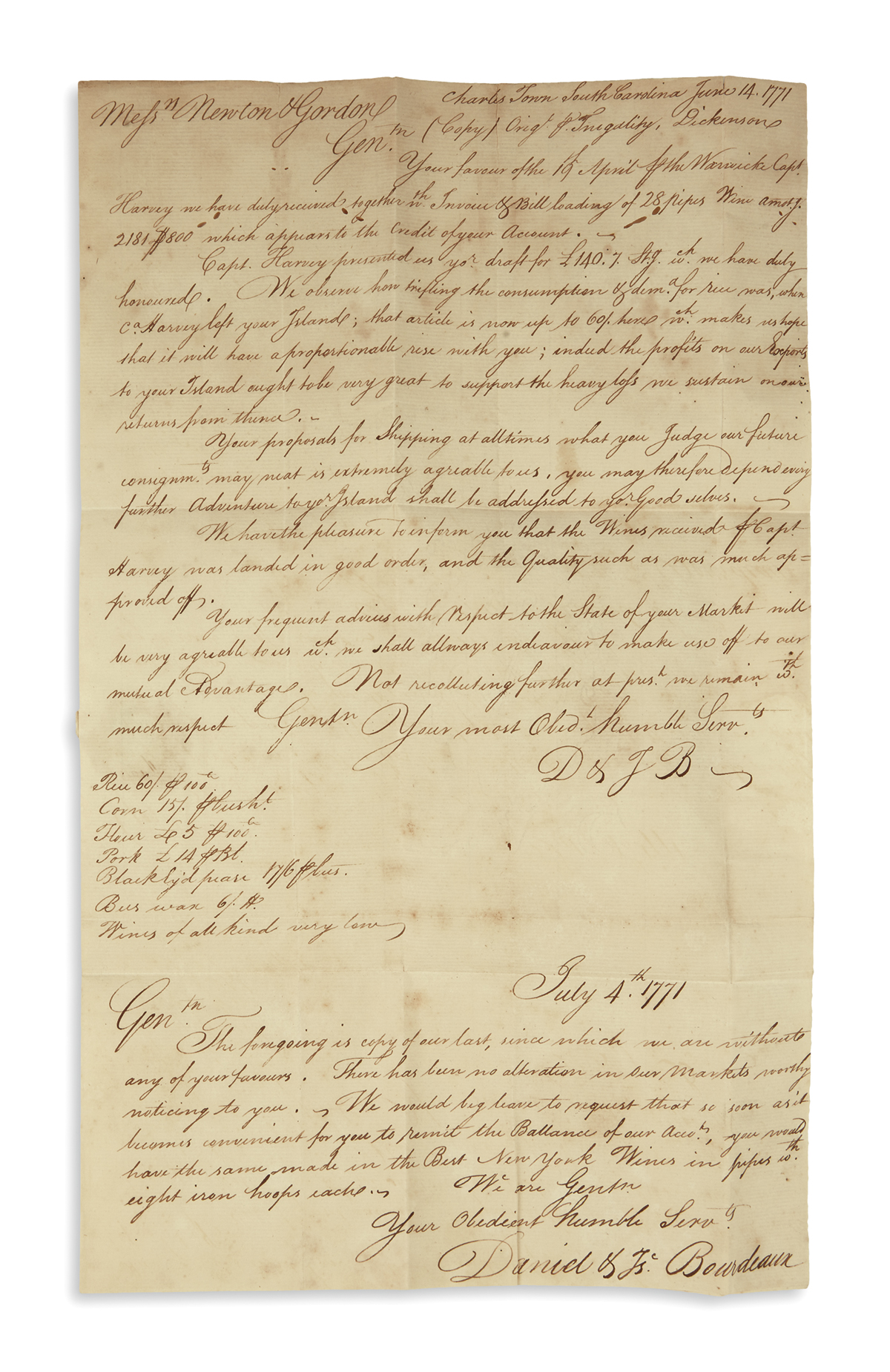 (AMERICAN-REVOLUTION--PRELUDE)-Corrie-John-Letter-describing