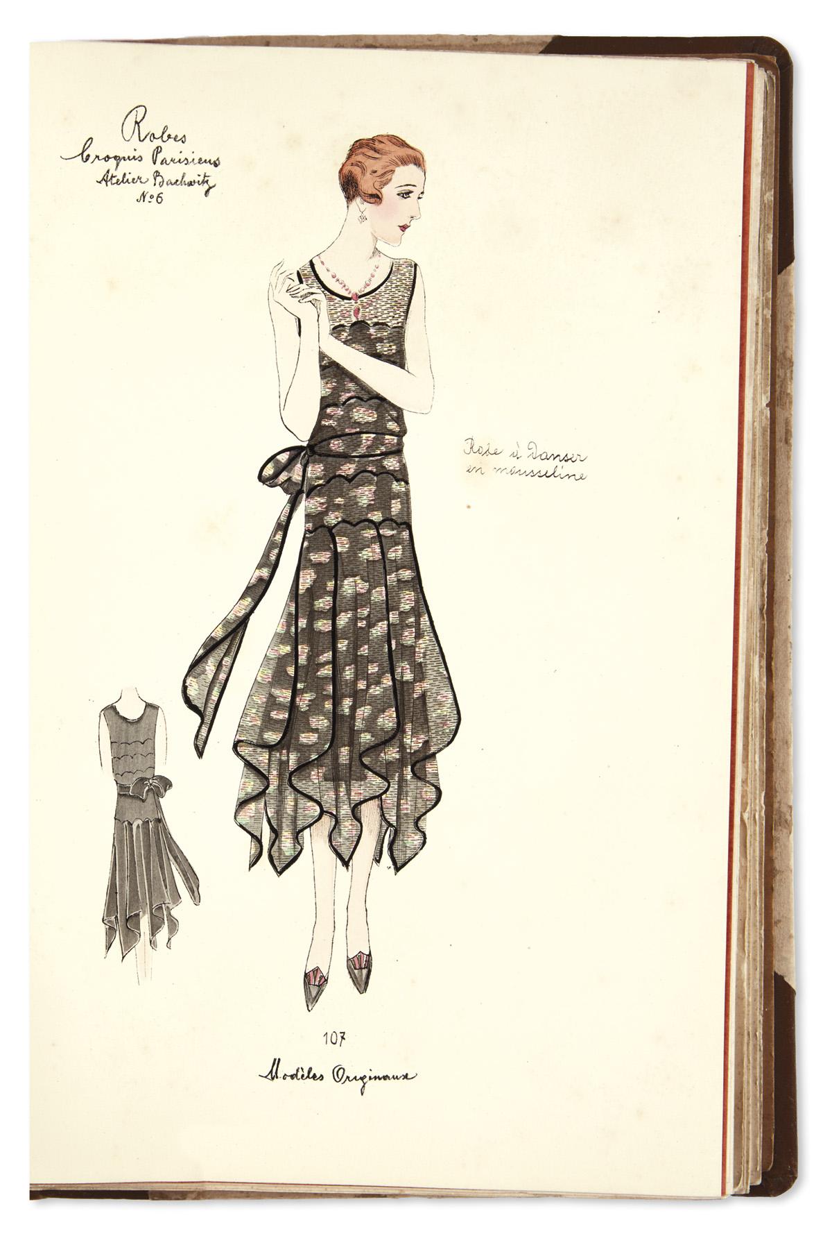 (DESIGN--FASHION--ART-DECO)-Croquis-Parisiens-Dress-Edition-