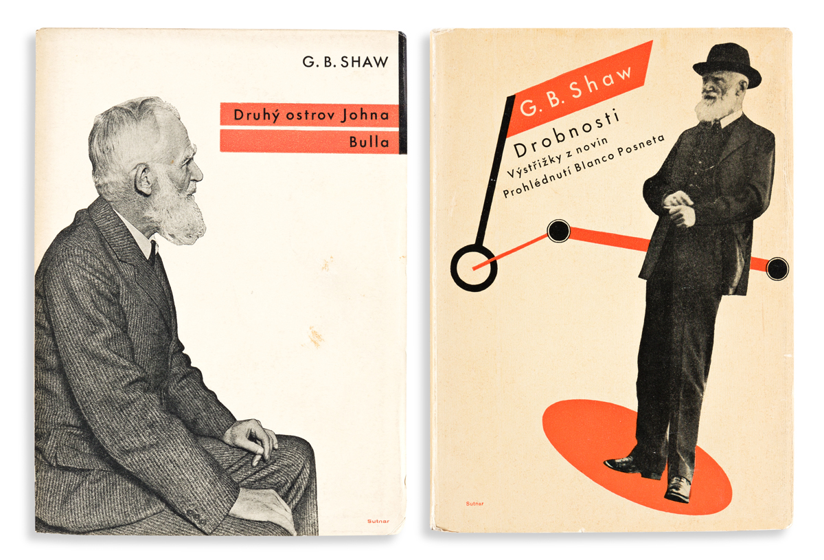 LADISLAV SUTNAR (1897-1976).  [COVER DESIGNS / GEORGE BERNARD SHAW.] Two softcover books. Each 7½x5½ inches, 19x14 cm.