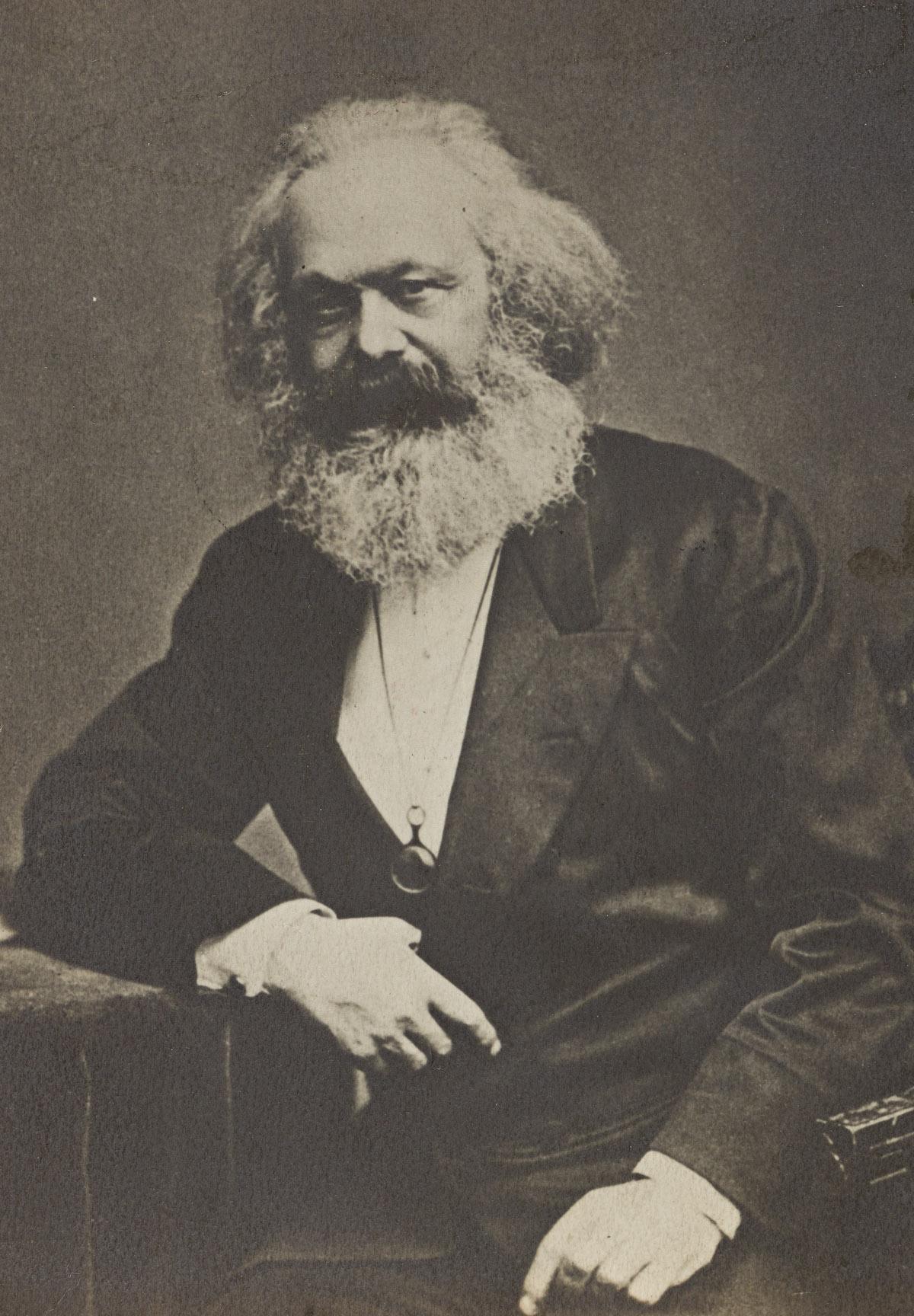 (COMMUNISM--ECONOMICS) Portrait of Karl Marx.