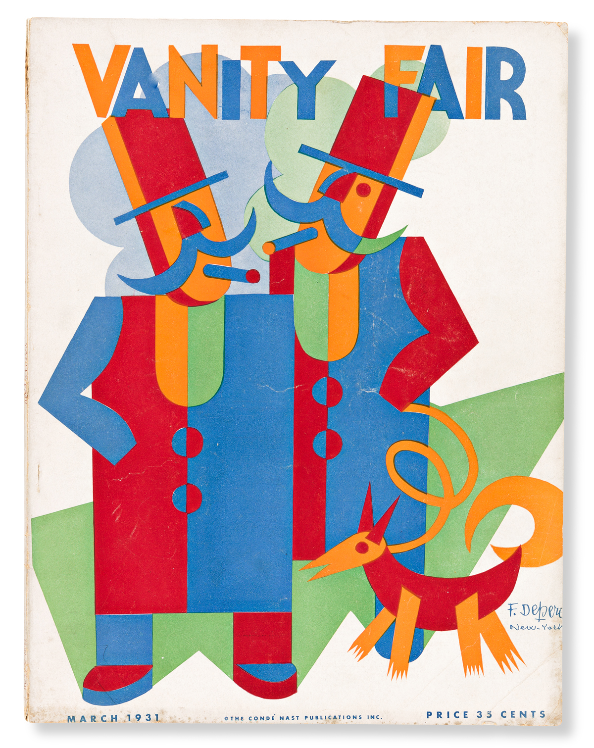 FORTUNATO DEPERO (1892-1960).  VANITY FAIR. Magazine. March, 1931. 12¾x10 inches, 32¼x25½ cm.