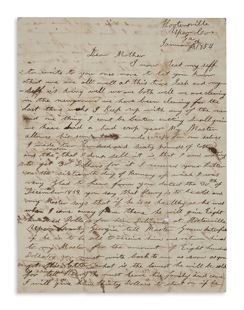 (SLAVERY-AND-ABOLITION)-Walker-Moses-Letter-from-an-enslaved