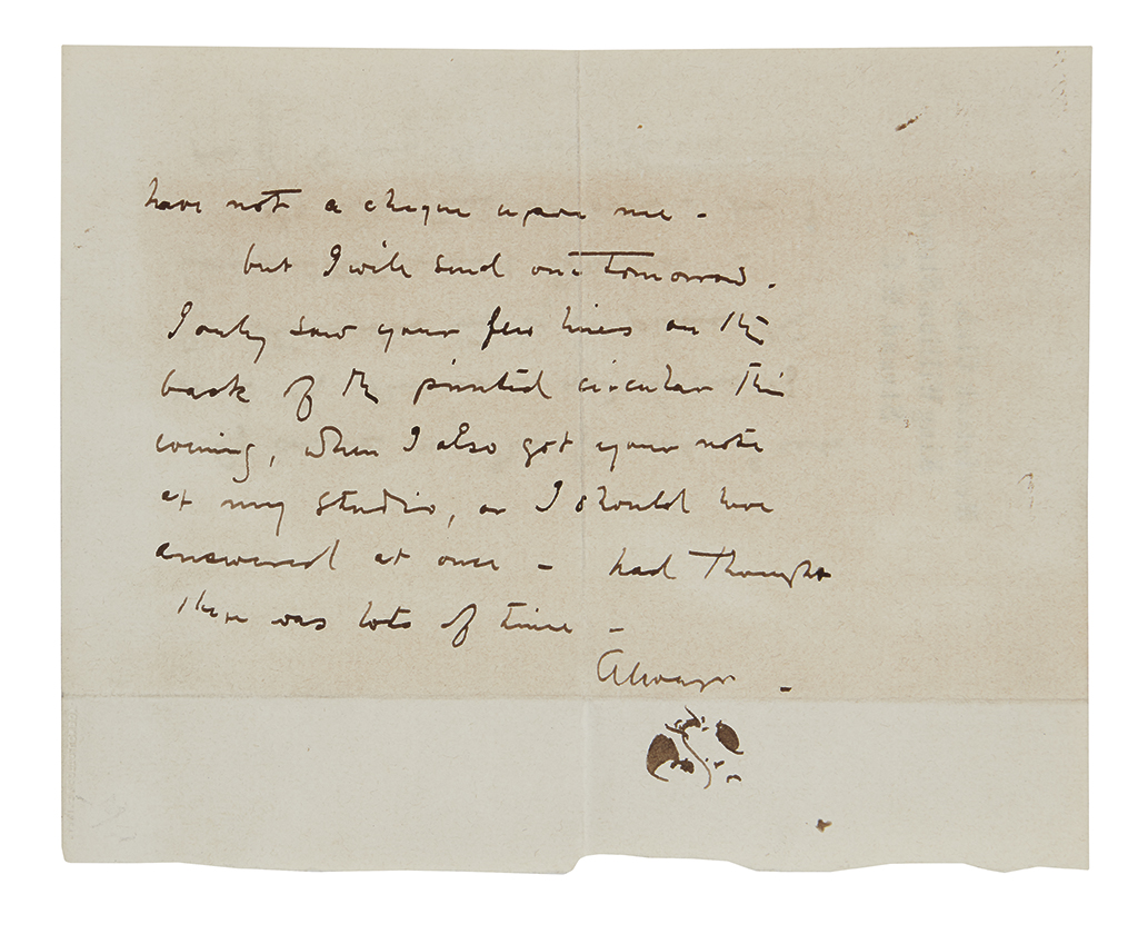 WHISTLER-JAMES-ABBOTT-MCNEILL-Autograph-Note-Signed-with-his