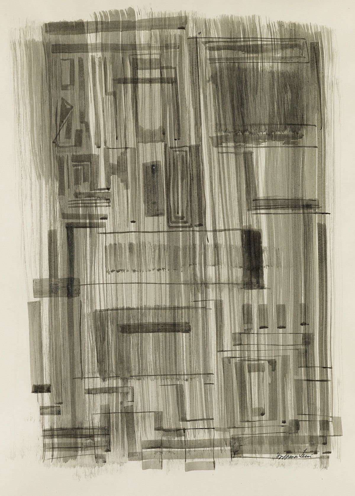 NORMAN-LEWIS-(1909---1979)-Untitled-(Urban-Abstraction)