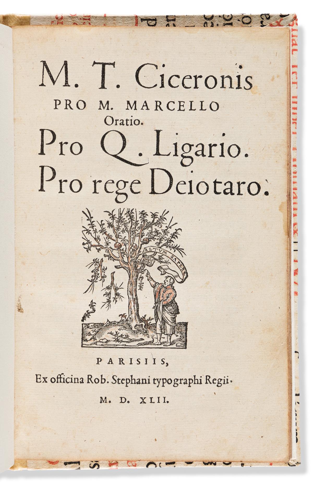 Cicero, Marcus Tullius (106-43 BC) Pro M. Marcello Oratio. Pro Q. Ligario. Pro rege Deiotaro.