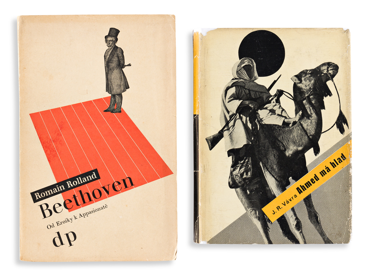 LADISLAV SUTNAR (1897-1976).  [COVER DESIGNS.] Two softcover books. 1932 & 1935. Sizes vary.