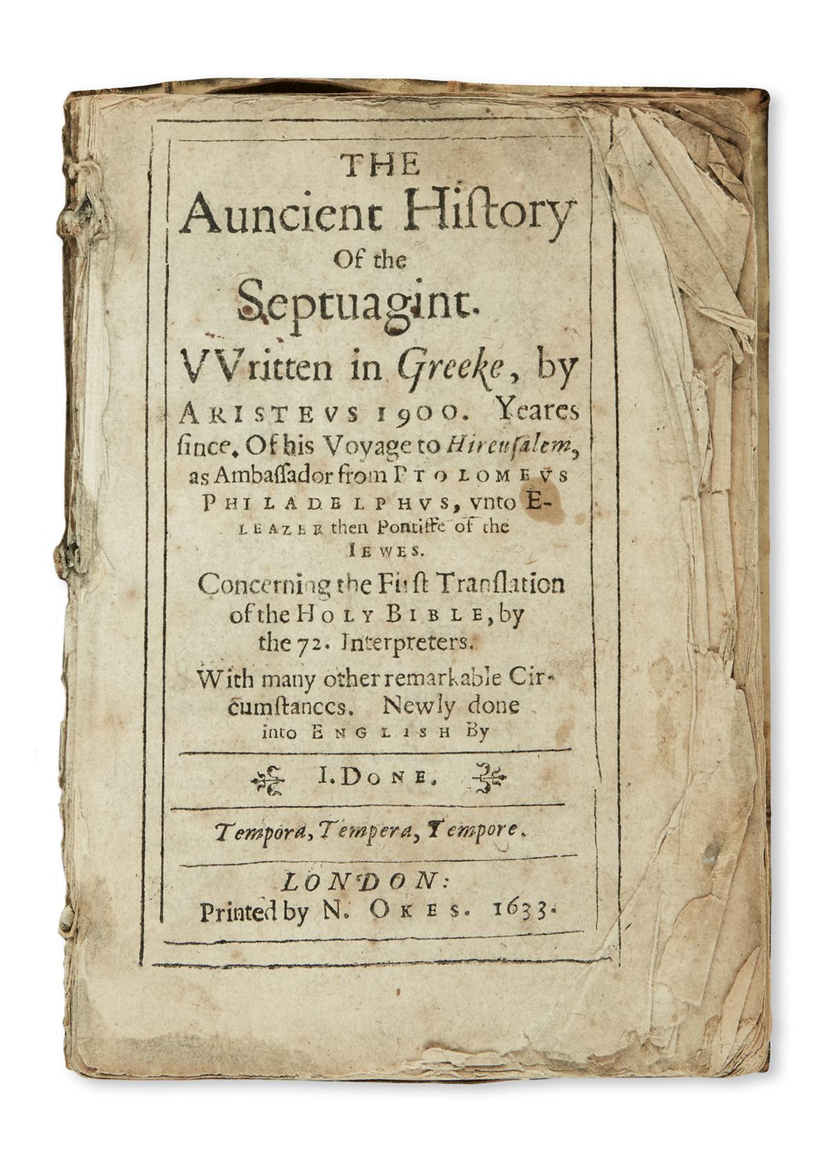ARISTEAS-pseud-The-auncient-History-of-the-Septuagint--1633