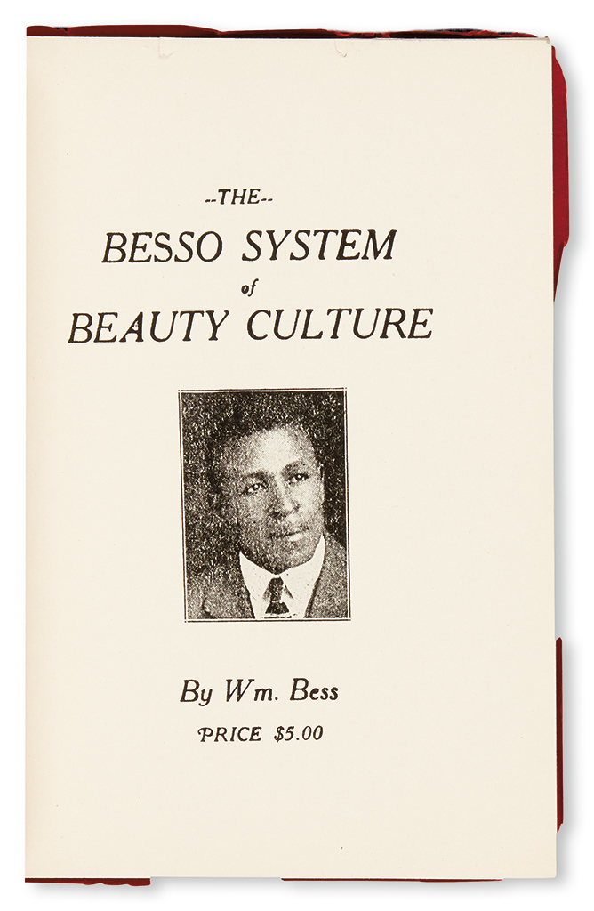 (COSMETOLOGY AND BEAUTY CULTURE.) BESS, WILLIAM. The Besso System of Beauty Culture.