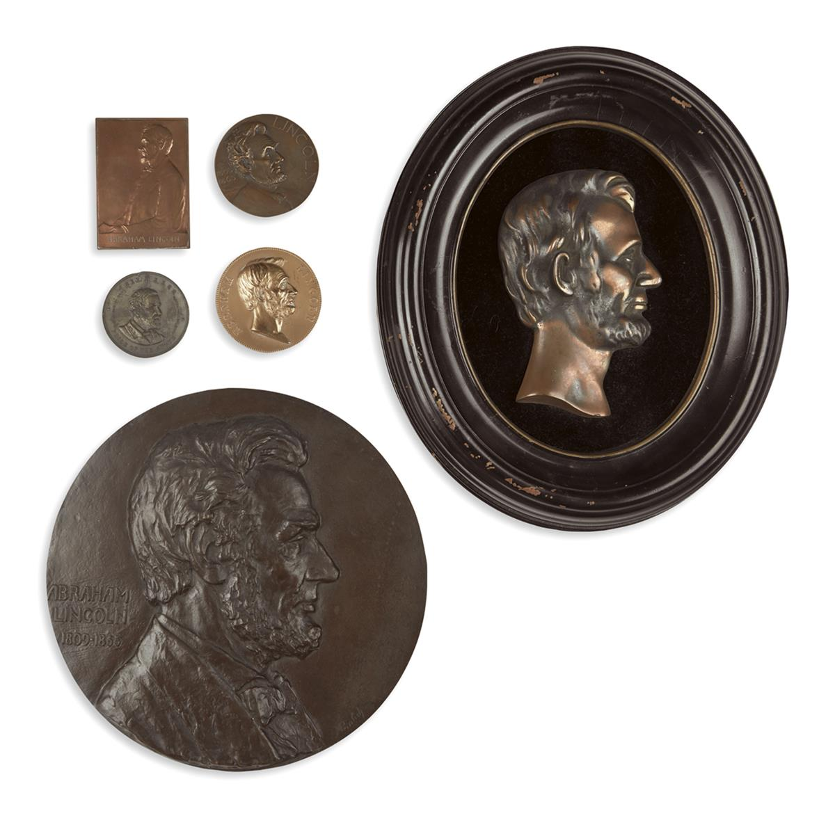 (REALIA)-Group-of-16-Lincoln-related-medallions