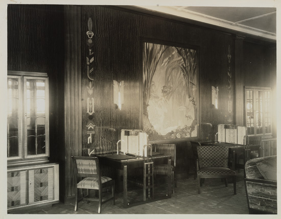 """(DOLLAR LINES.) """"President Coolidge."""" Two-part bookcase with maple veneer,"""
