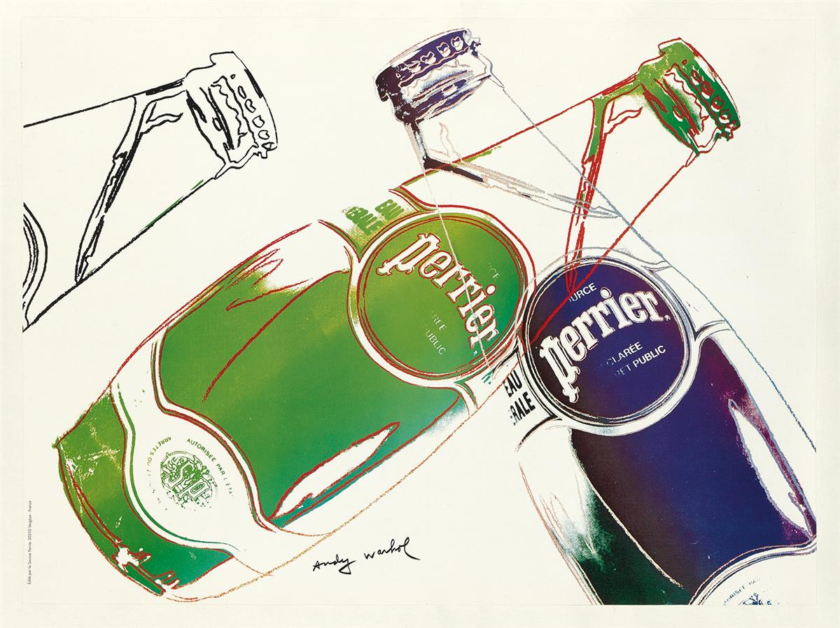 ANDY-WARHOL-(1928-1987)-PERRIER-1983-17x23-inches-44x59-cm