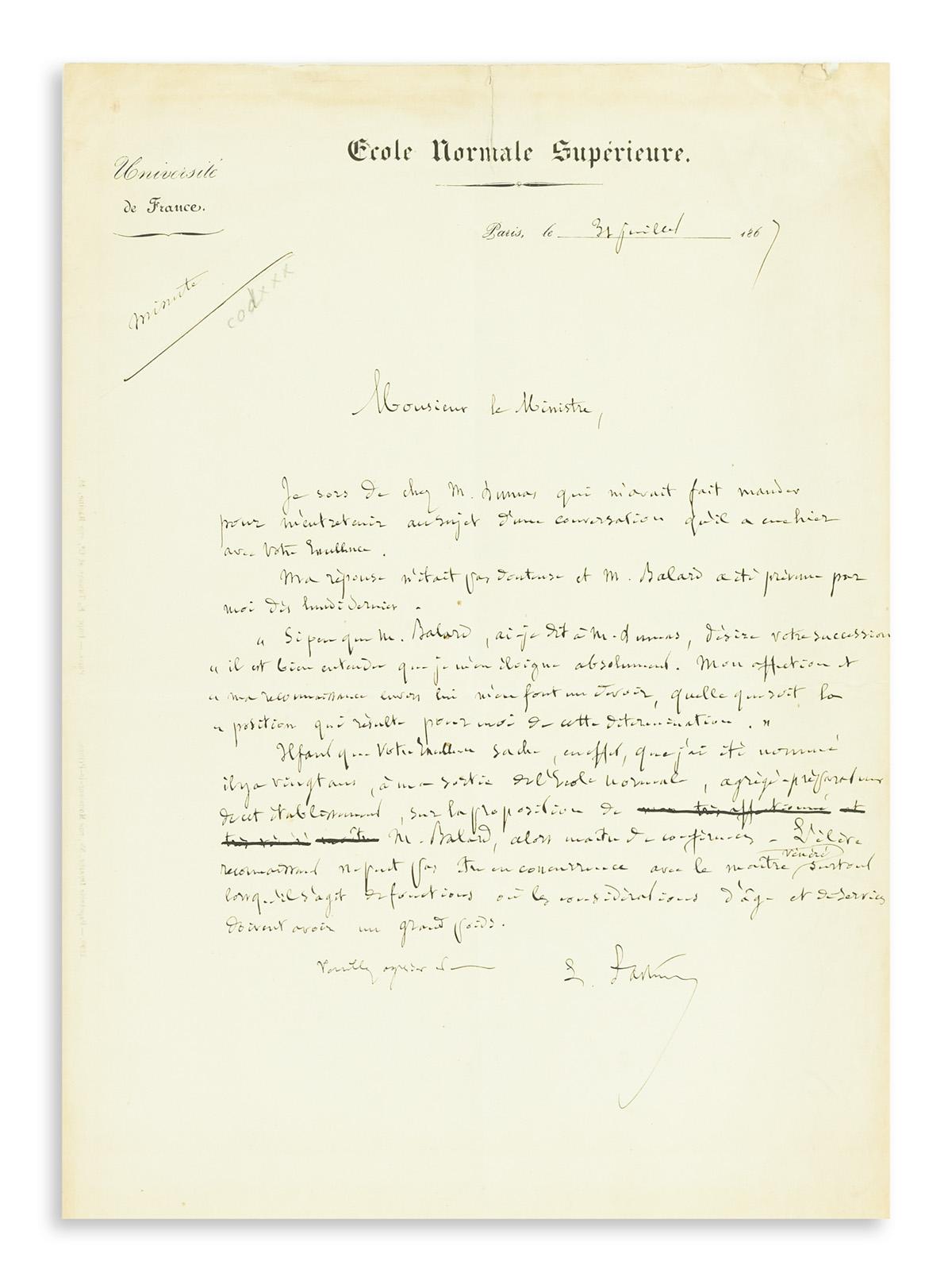 (SCIENTISTS)-PASTEUR-LOUIS-Autograph-Letter-Signed-L-Pasteur