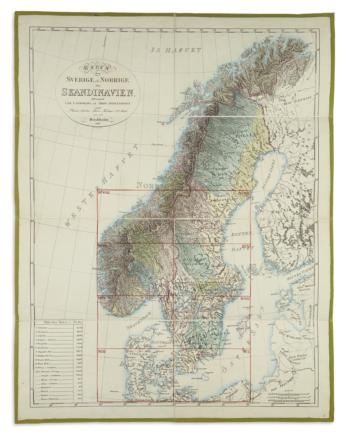 (SCANDINAVIA)-Forsell-Carl-Karta-Ofver-Sodra-Delen-af-Sverig
