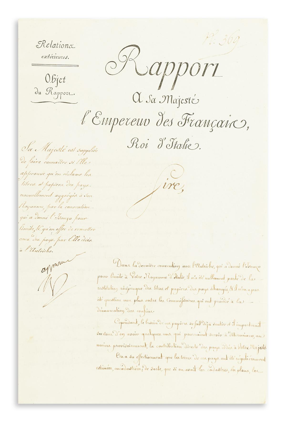 NAPOLÉON. Autograph Endorsement Signed, Approuvé / Np,