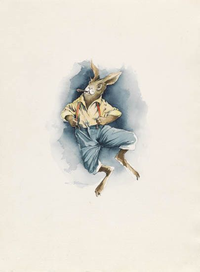 BARRY MOSER. Rabbit Jumps.