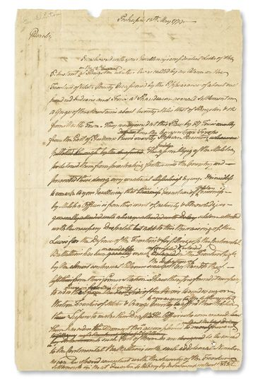 (AMERICAN-REVOLUTION)-[Clinton-George]-Letter-to-General-Was
