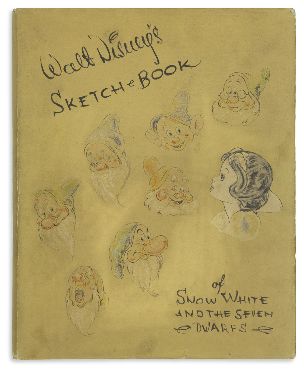 (CHILDRENS LITERATURE.) [Disney Studios.] Sketch Book [For Snow White and the Seven Dwarfs].