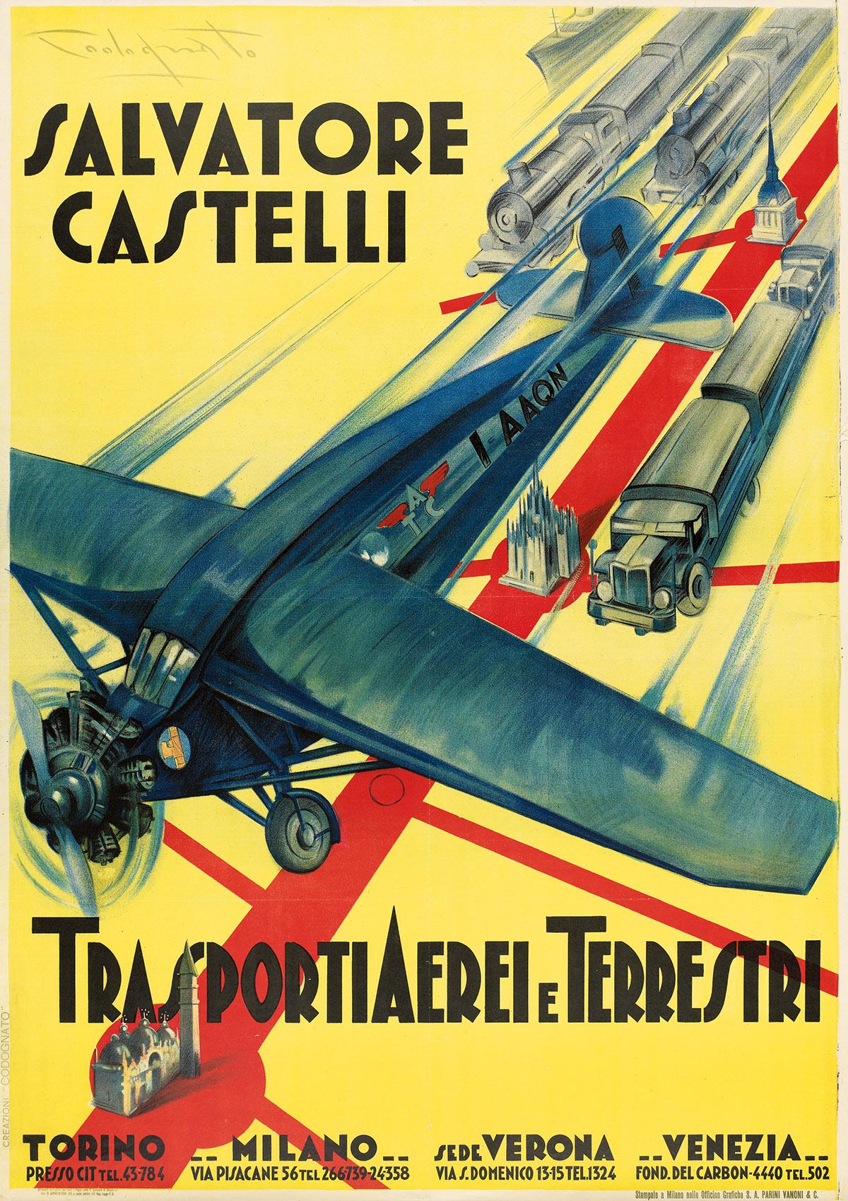PLINIO-CODOGNATO-(1878-1940)-SALVATORE-CASTELLI--TRASPORTI-A
