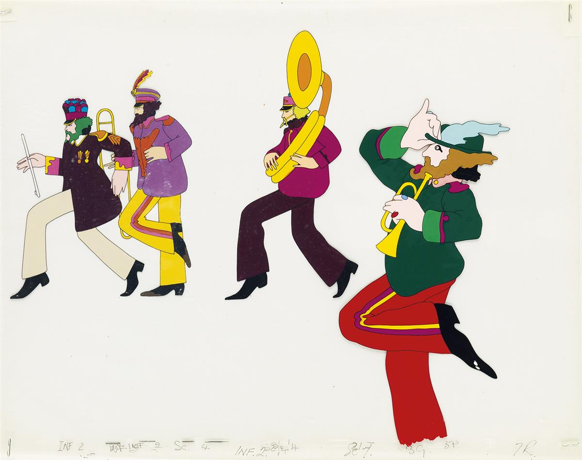 (THE BEATLES.) YELLOW SUBMARINE. Sergeant Peppers Band.