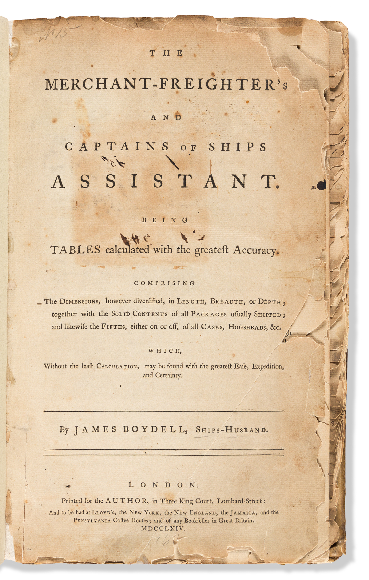 Boydell, James (Ships-Husband) The Merchant-Freighters and Captains of Ships Assistant.