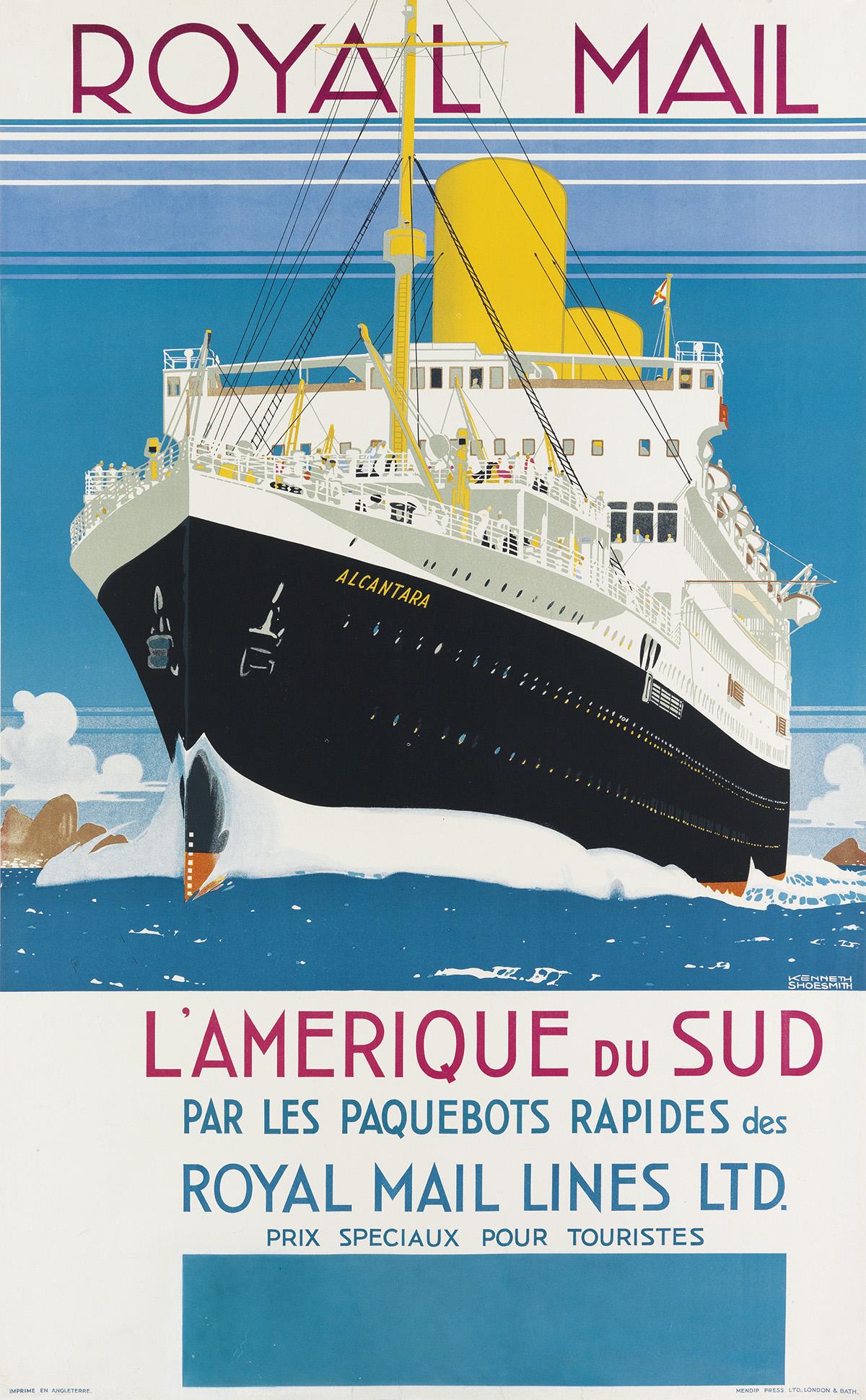 KENNETH-D-SHOESMITH-(1890-1939)-ROYAL-MAIL--LAMERIQUE-DU-SUD