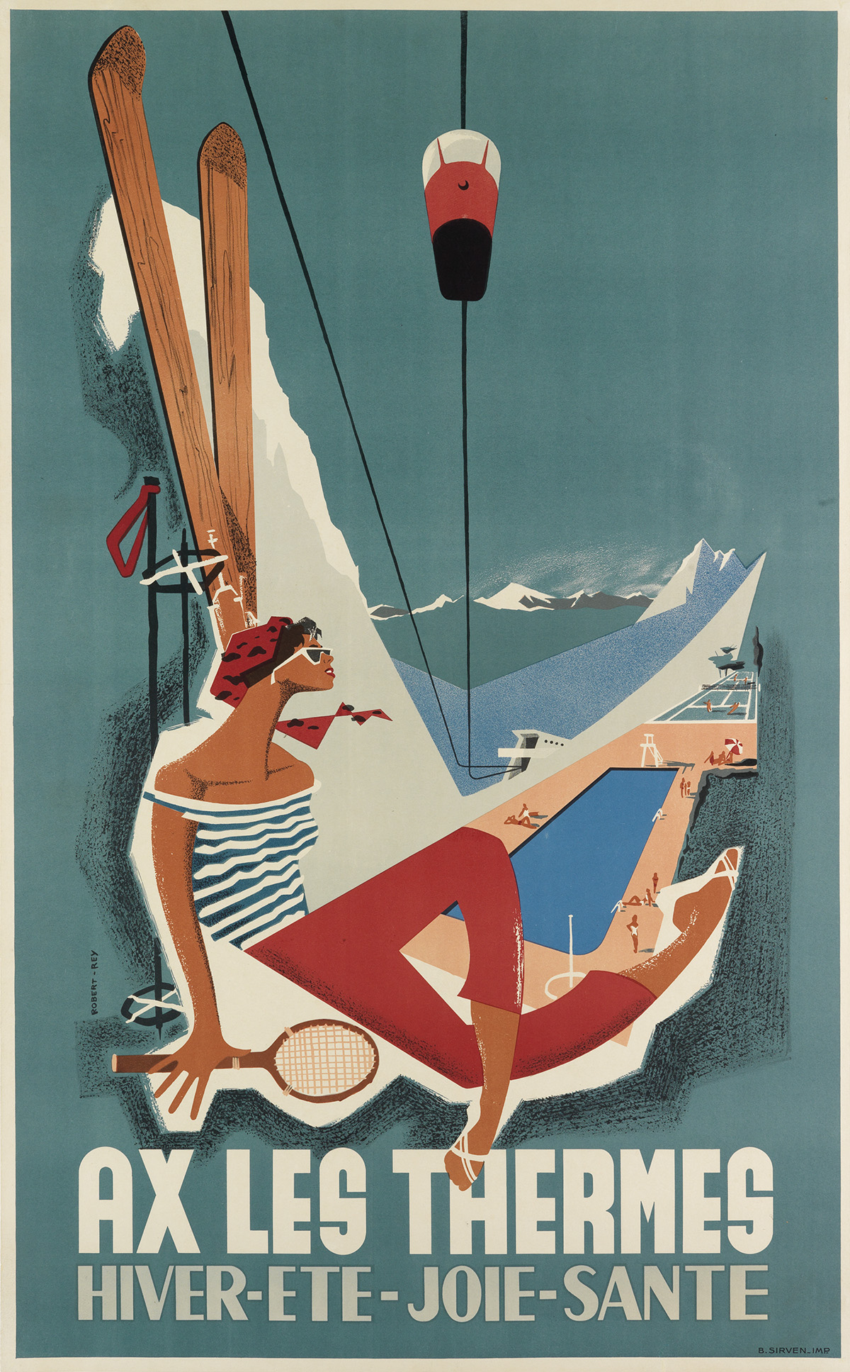 ROBERT-REY-(DATES-UNKNOWN)-AX-LES-THERMES-Circa-1956-39x25-inches-99x63-cm-B-Sirven-[Toulouse]