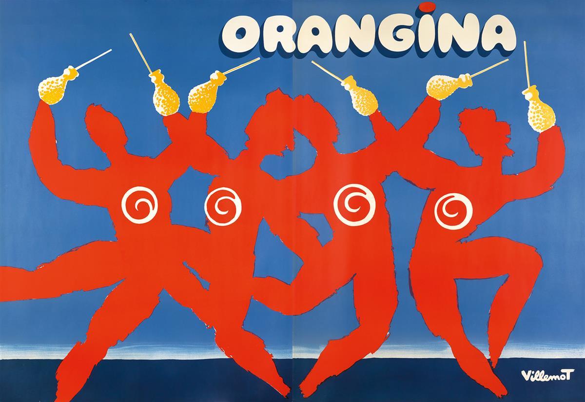 BERNARD-VILLEMOT-(1911-1989)-ORANGINA-1983-63x92-inches-160x