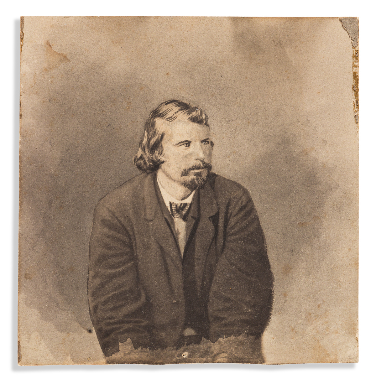 (ABRAHAM LINCOLN.) Group of retouched photographs of five Lincoln conspirators, used by Alexander Gardner for cartes-de-visite.