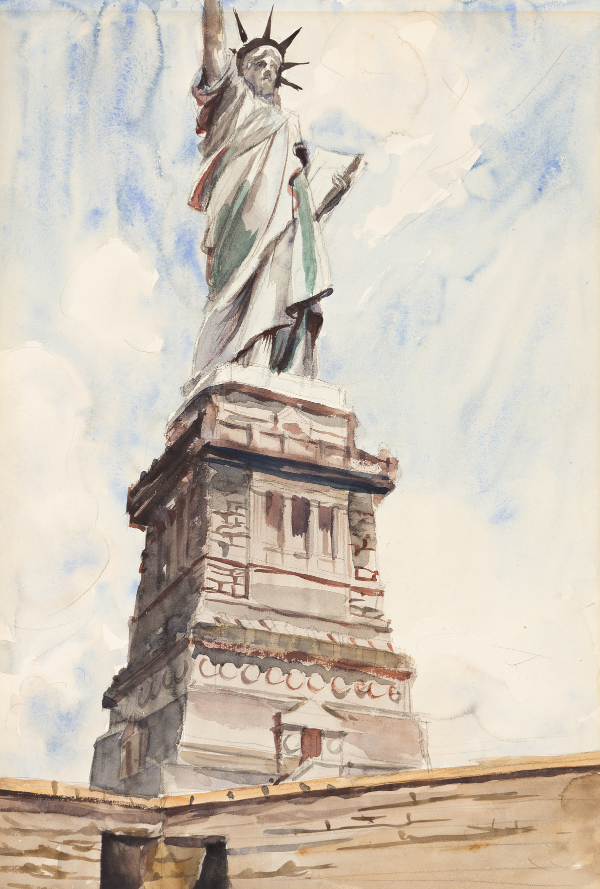 REGINALD MARSH The Statue of Liberty.