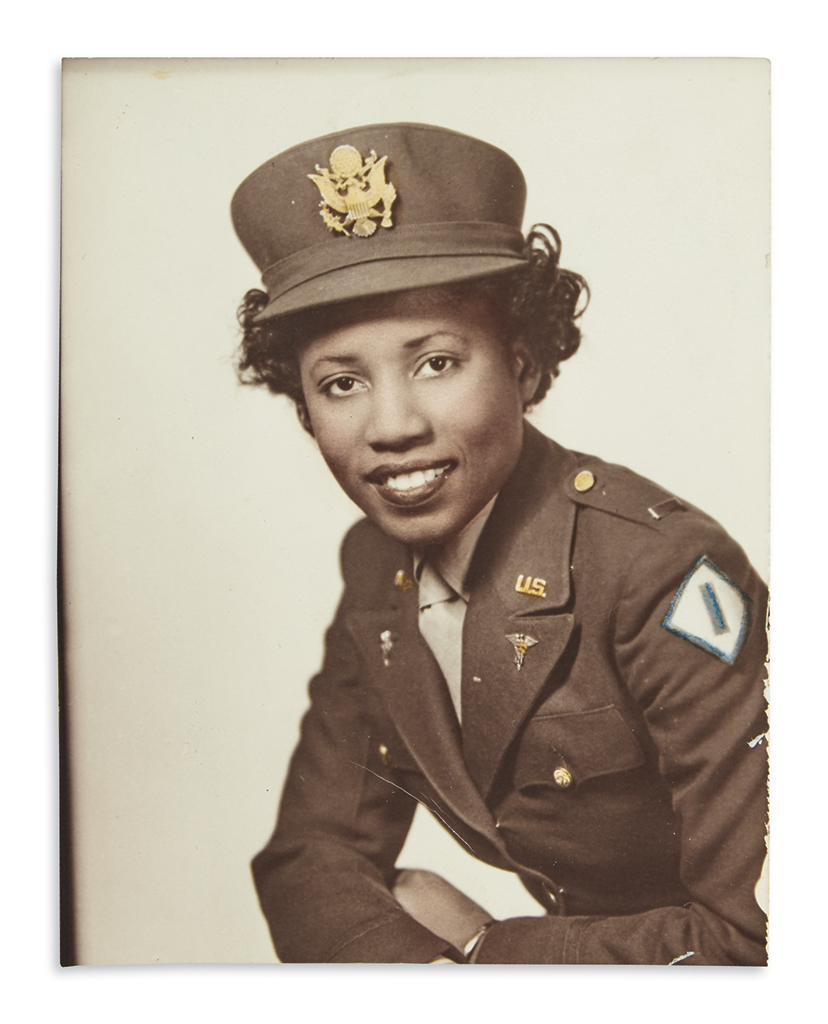 (MILITARY.) Papers of Nancy Leftenant-Colon, the first African-American in the Regular Army Nurse Corps.