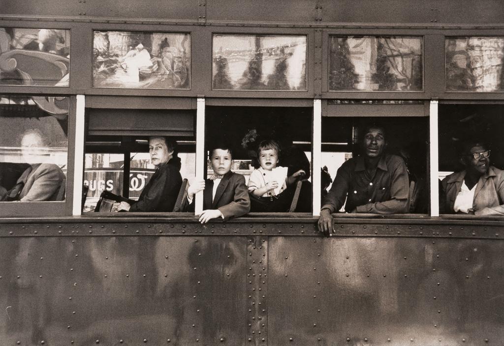 ROBERT FRANK (1924- ) Trolley--New Orleans.