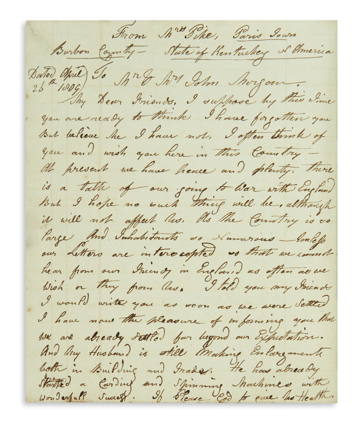 (TRAVEL.) A compilation of emigrant letters from Kentucky and elsewhere back home to Devonshire, England.