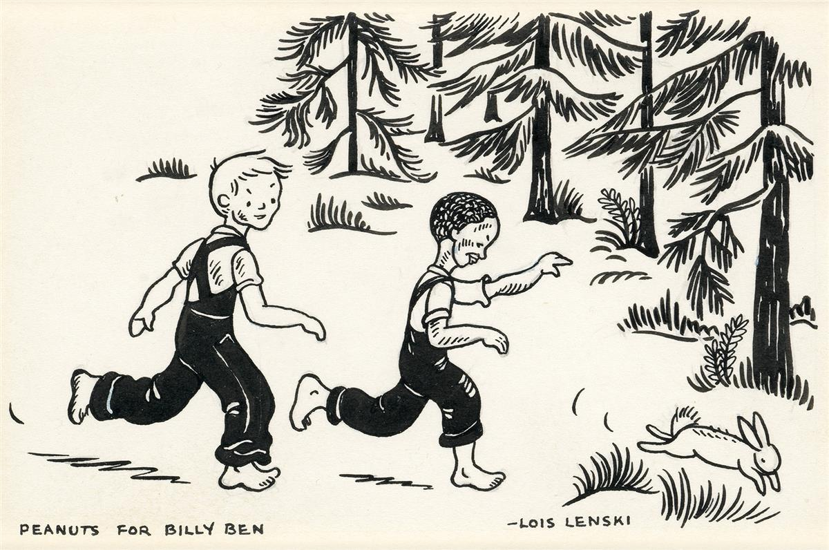 CHILDRENS AFRICAN-AMERICAN LOIS LENSKI. Billy Ben and Jimbo Chase a Rabbit.