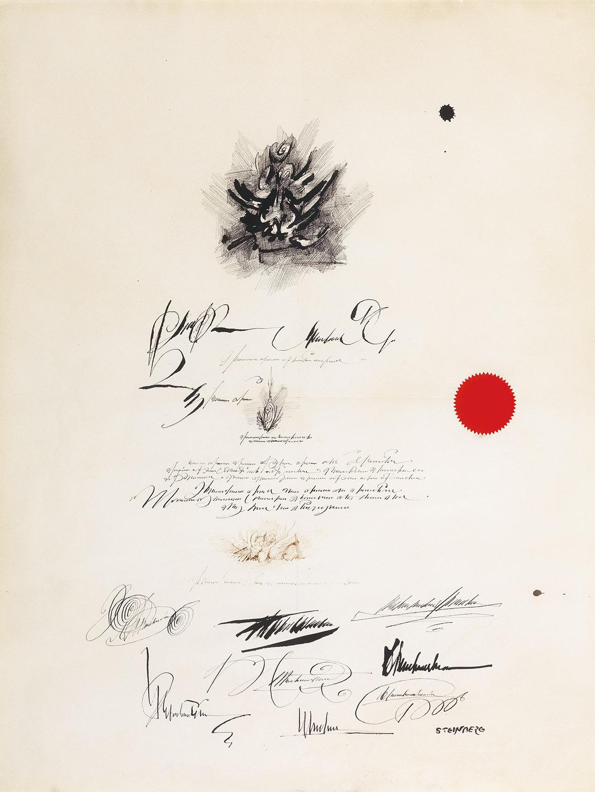 SAUL-STEINBERG-Diploma-False-Document