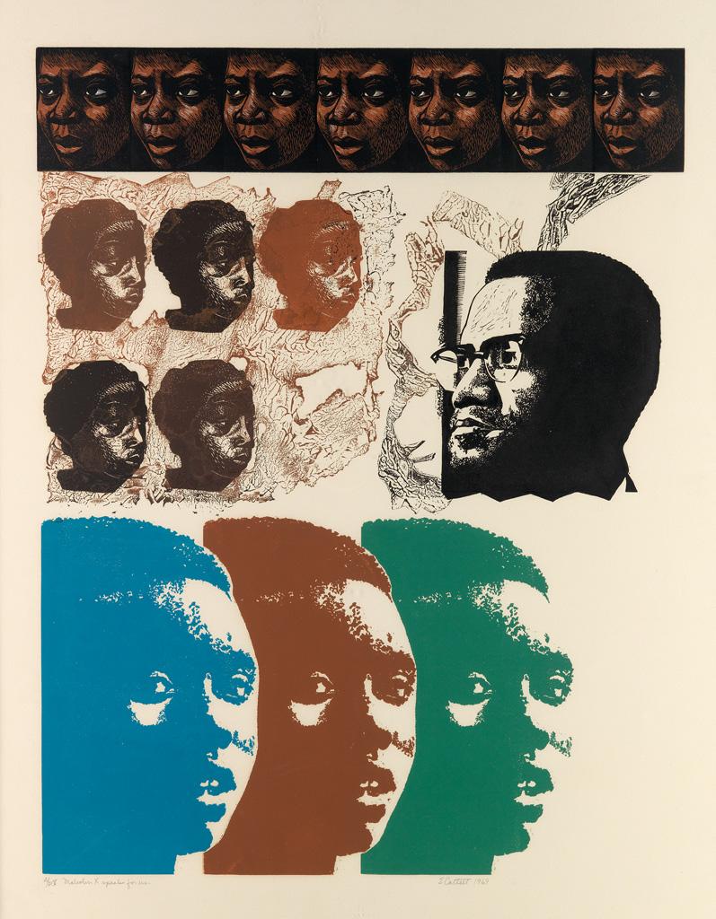 ELIZABETH CATLETT (1915 - 2012) Malcolm X Speaks for Us.