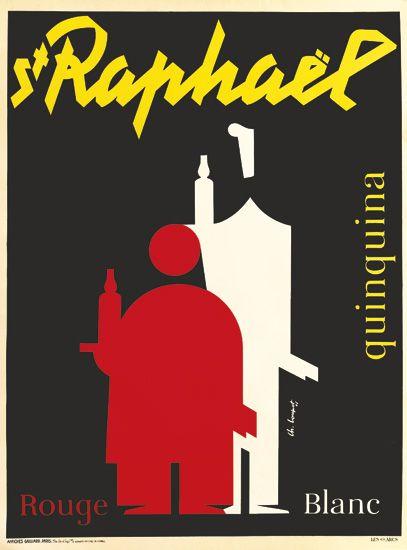 CHARLES LOUPOT (1892-1962). ST RAPHAËL. 1947. 62x45 inches, 157x116 cm. Affiches Gaillard, Paris.