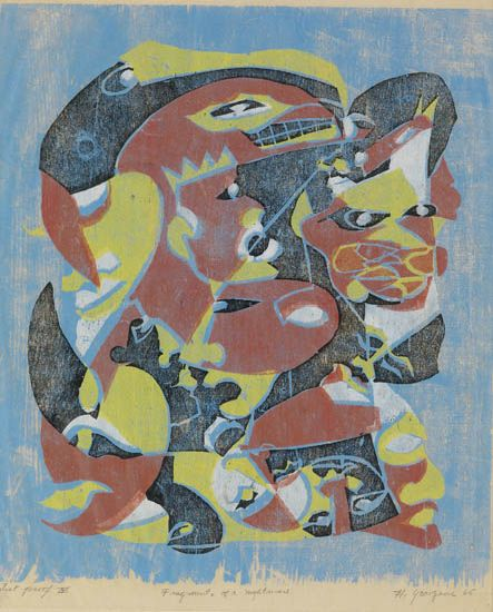 HARTWELL YEARGANS (1915 - 2005) Fragments of a Nightmare.