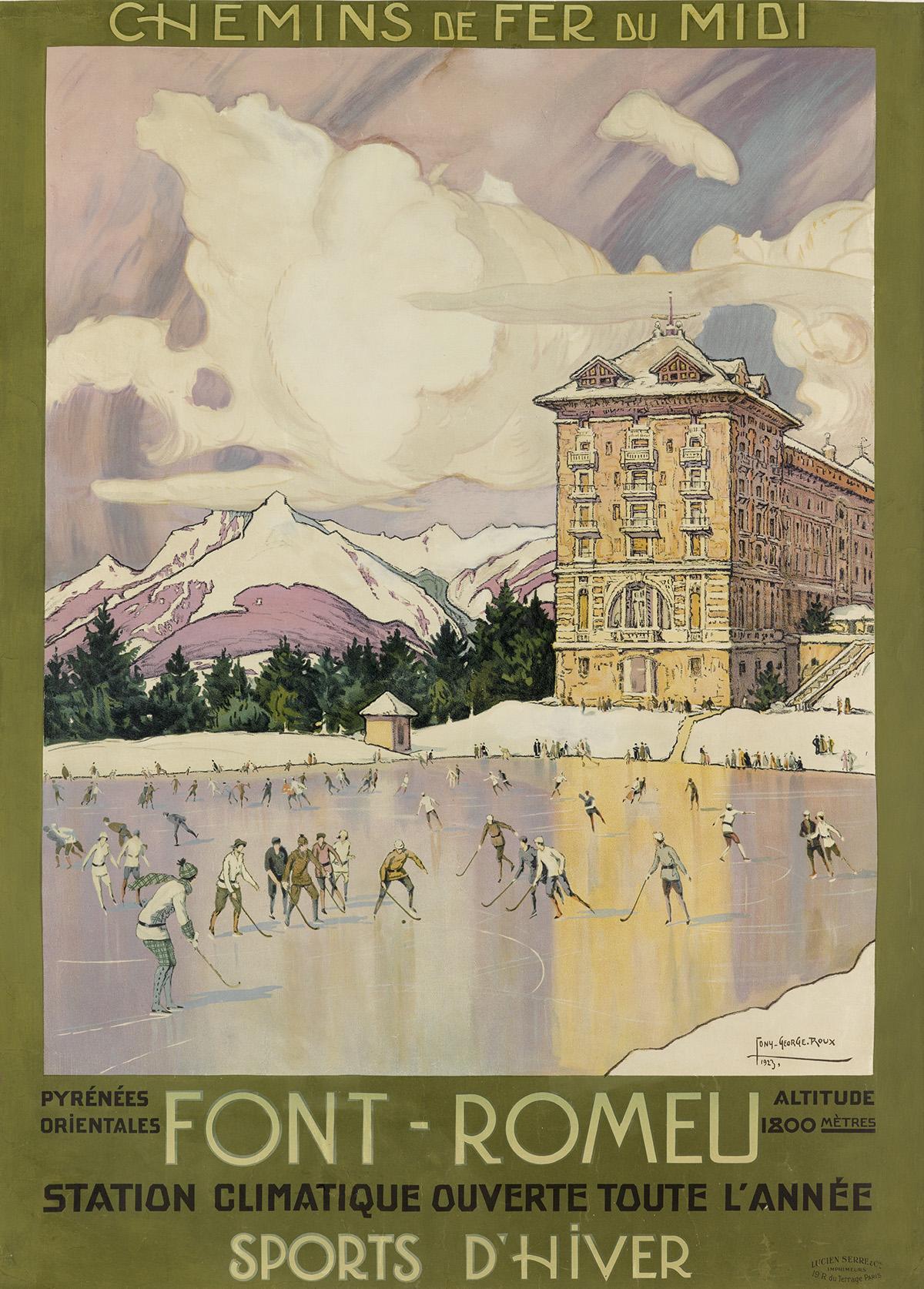 TONY-GEORGE-ROUX-(1894-1928)-FONT---ROMEU--SPORTS-DHIVER-192