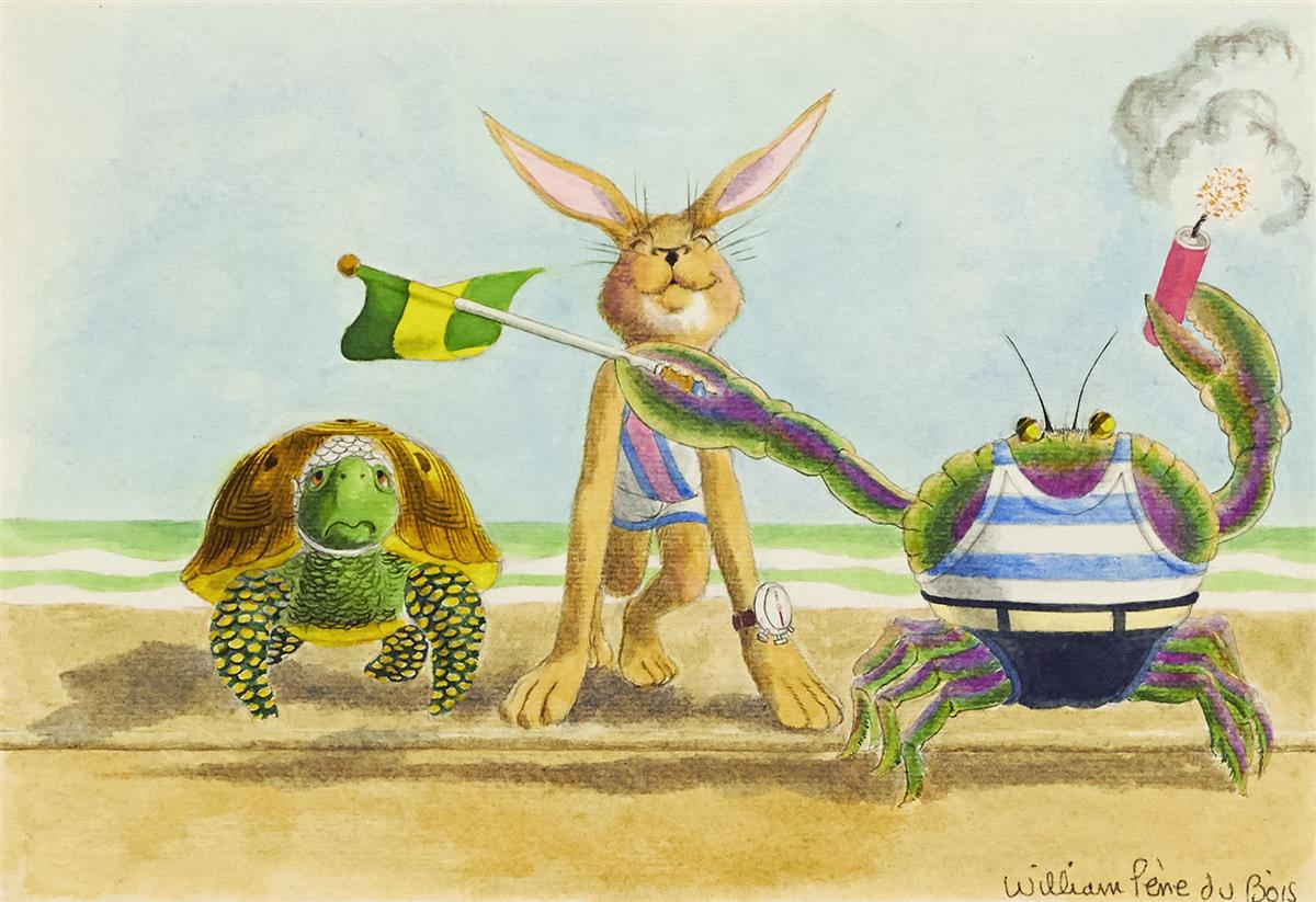 WILLIAM PÈNE DU BOIS. The Hare and the Tortoise and The Tortoise and the Hare. [CHILDRENS / AESOP / FABLE]